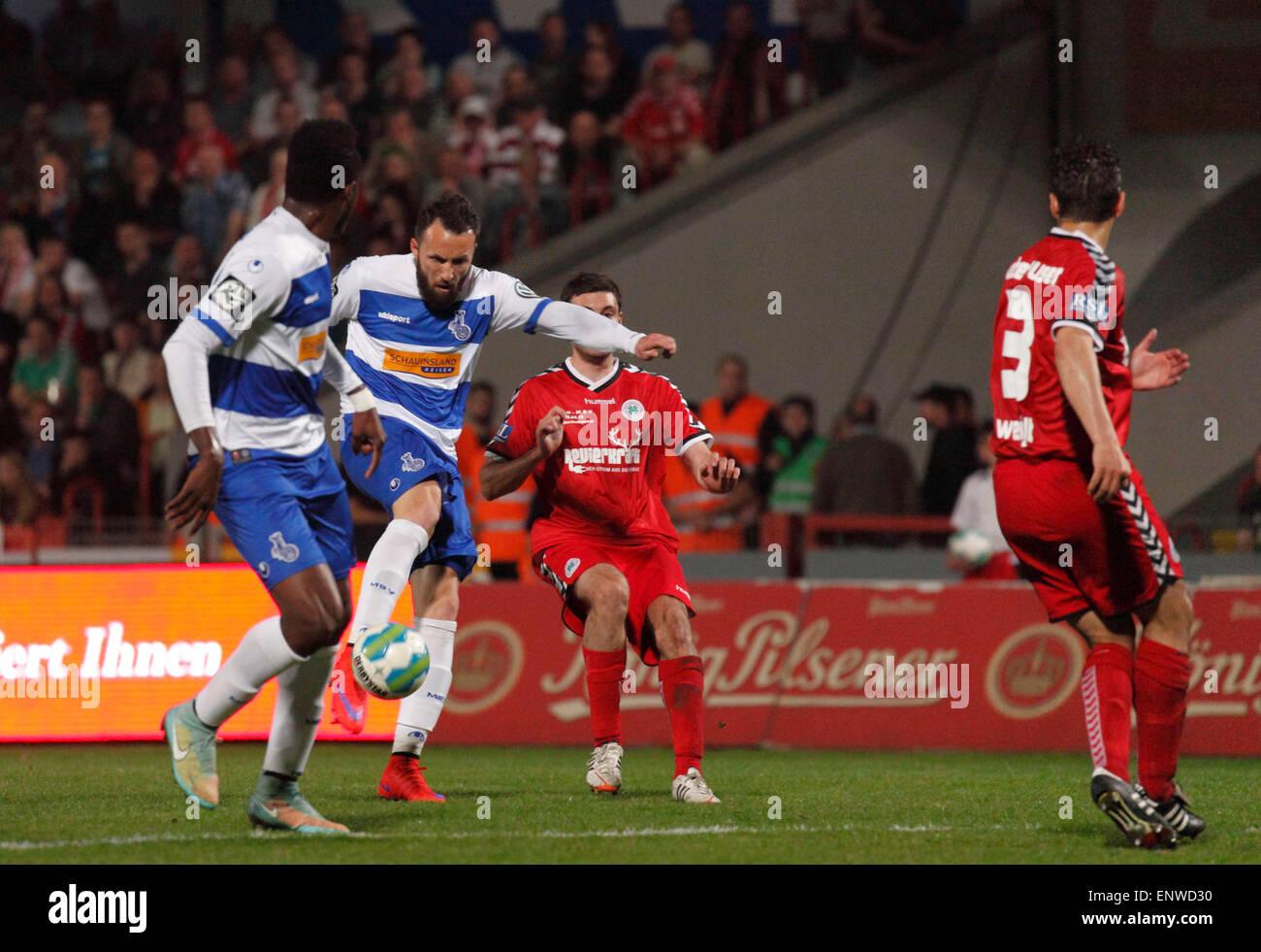 sports, football, Lower Rhine Cup, 2014/2015, semifinal, Rot Weiss Oberhausen versus MSV Duisburg 2:0, Stadium Niederrhein - Stock Image