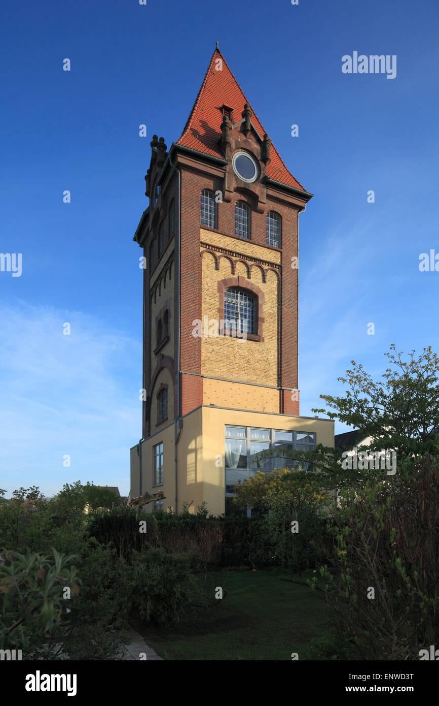 Vestiaturm von Carl Kleinert, ehemals Wasserturm von Schlachthof und Fleischwarenfabrik Vestia in Gelsenkirchen - Stock Image