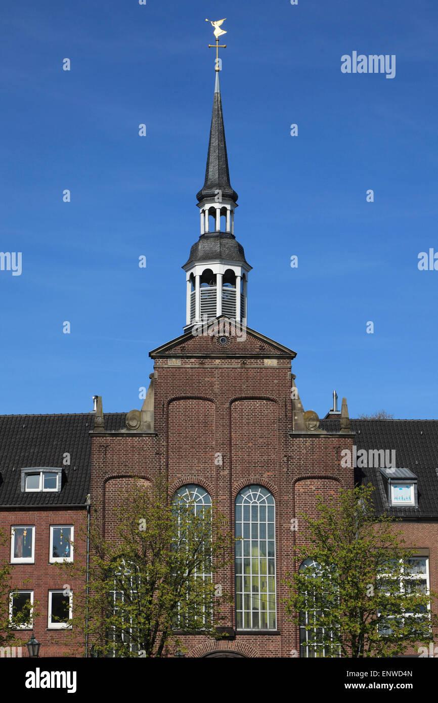 Evangelische Kirche am Markt zu Goch, Niederrhein, Nordrhein-Westfalen - Stock Image