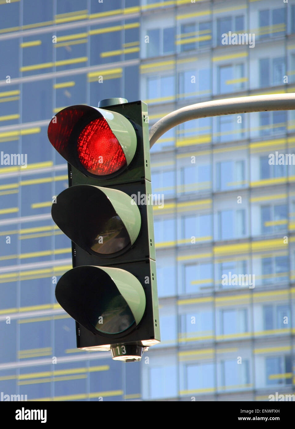 red traffic lights - Stock Image
