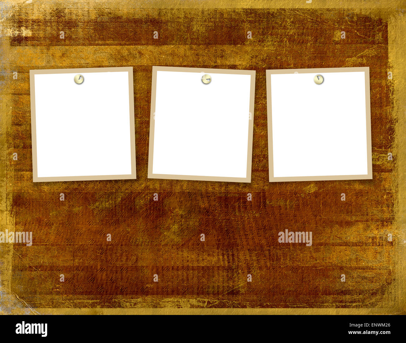 Three frames for photos on the abstract background Stock Photo ...
