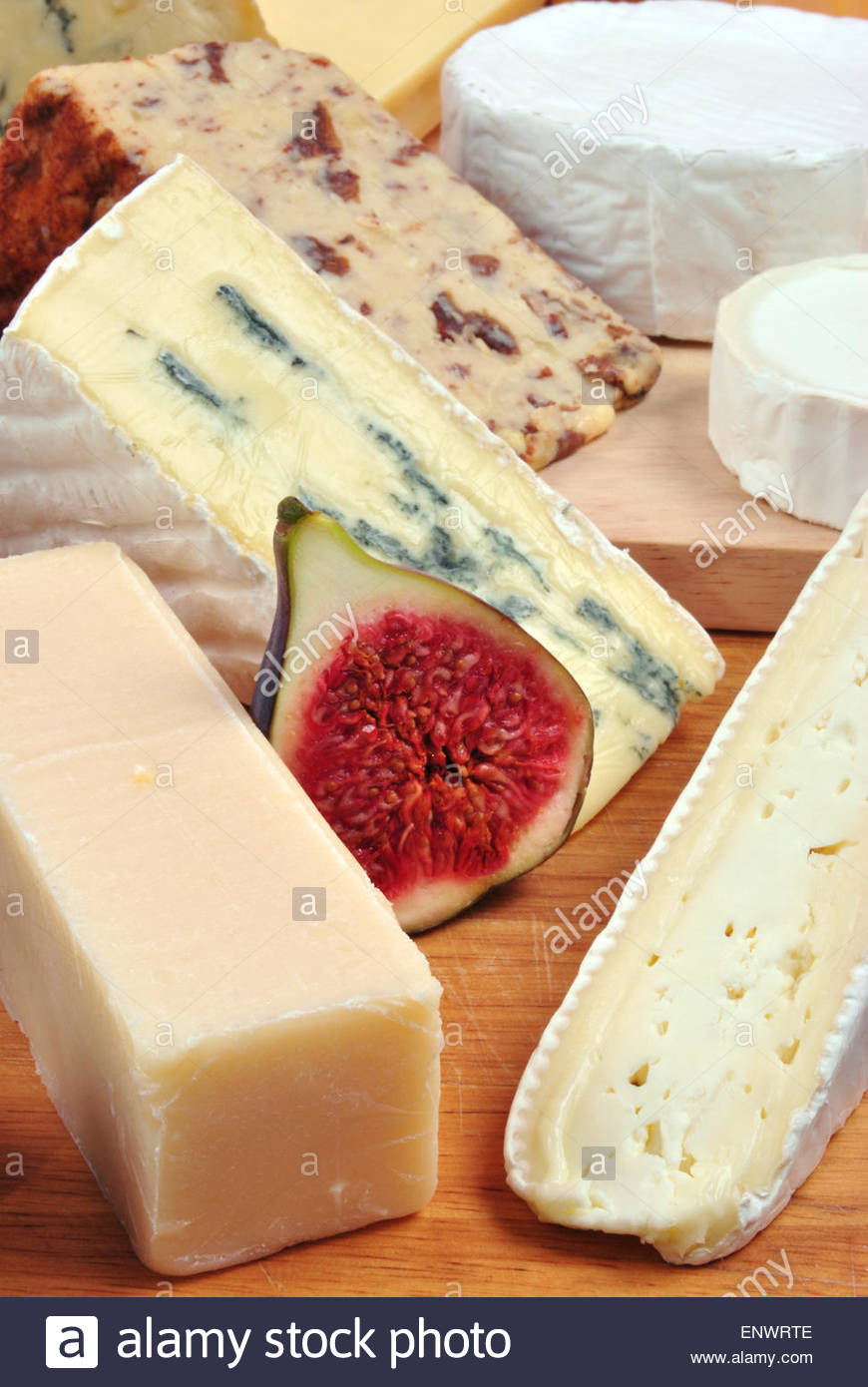 a cheese plate with cheeses & a cheese plate with cheeses Stock Photo: 82316766 - Alamy