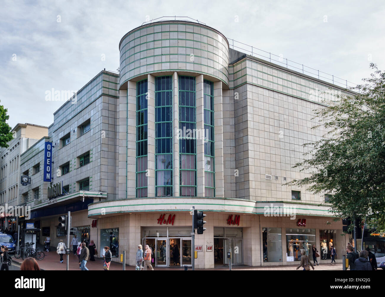 Broadmead, Bristol, UK. The Odeon Cinema, Built in 1939 - Stock Image