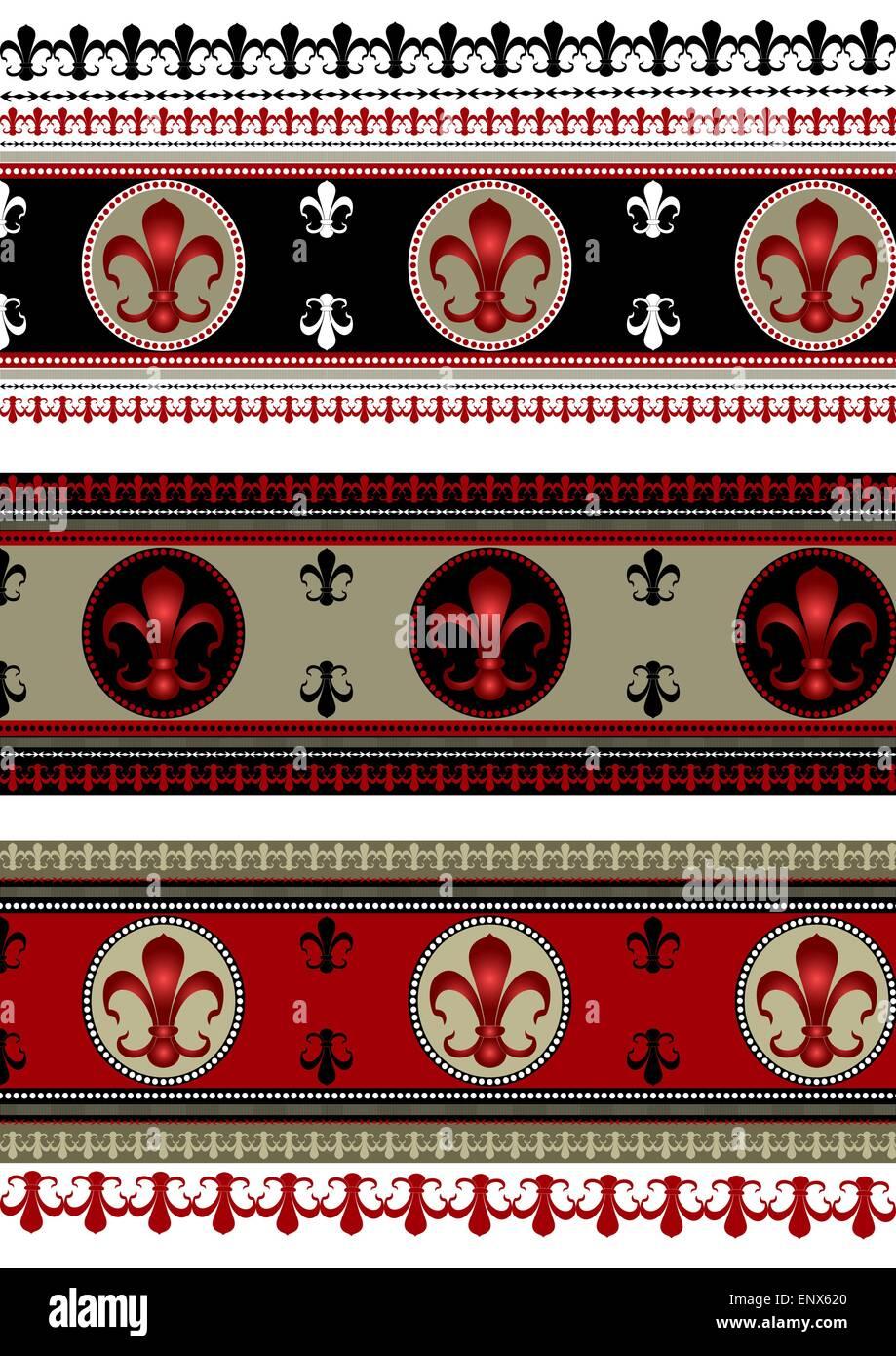 Set Of Backgrounds With Heraldic Symbols Stock Vector Art