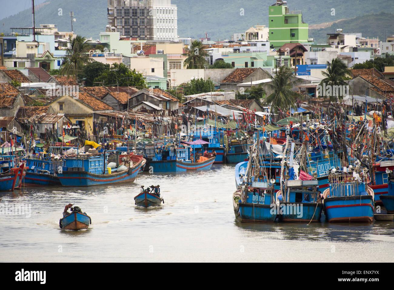 Harbour - Nha Tranf, Vietnam - Stock Image