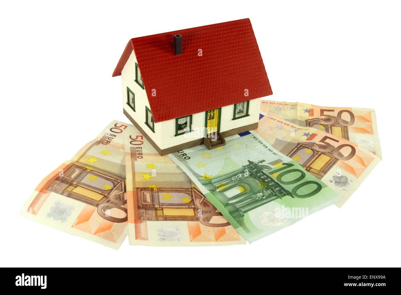 Immobilien als Geldanlage Stock Photo