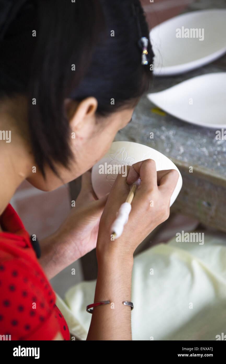 Pottery - Bat Trang, Vietnam - Stock Image
