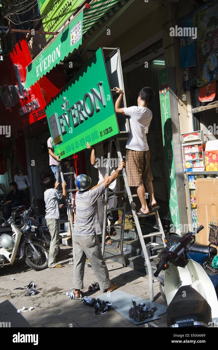 Streetlife - Hanoi, Vietnam - Stock Image