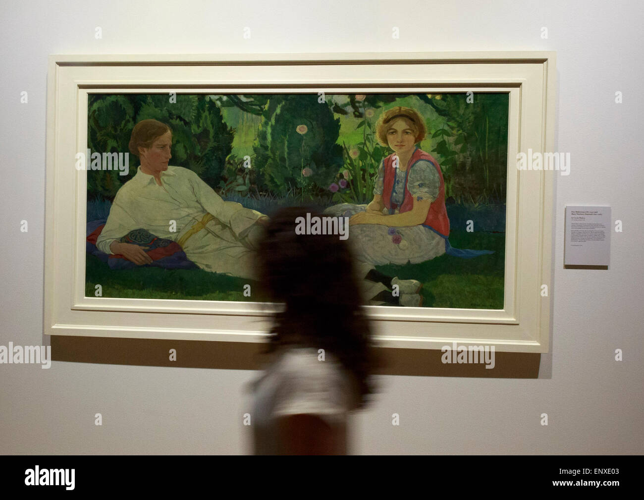 Edinburgh. UK. 12th May, 2015. A double portrait by the celebrated Edinburgh painter Cecile Walton on display in - Stock Image
