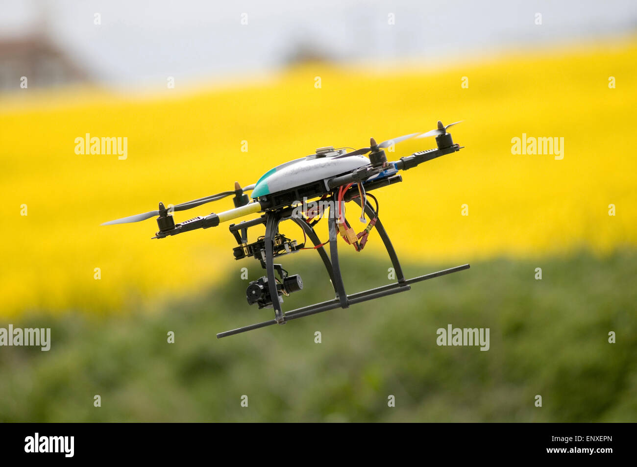 Drone drones camera video platform flying fly licensed operator photography photograph photographs videos privacy - Stock Image