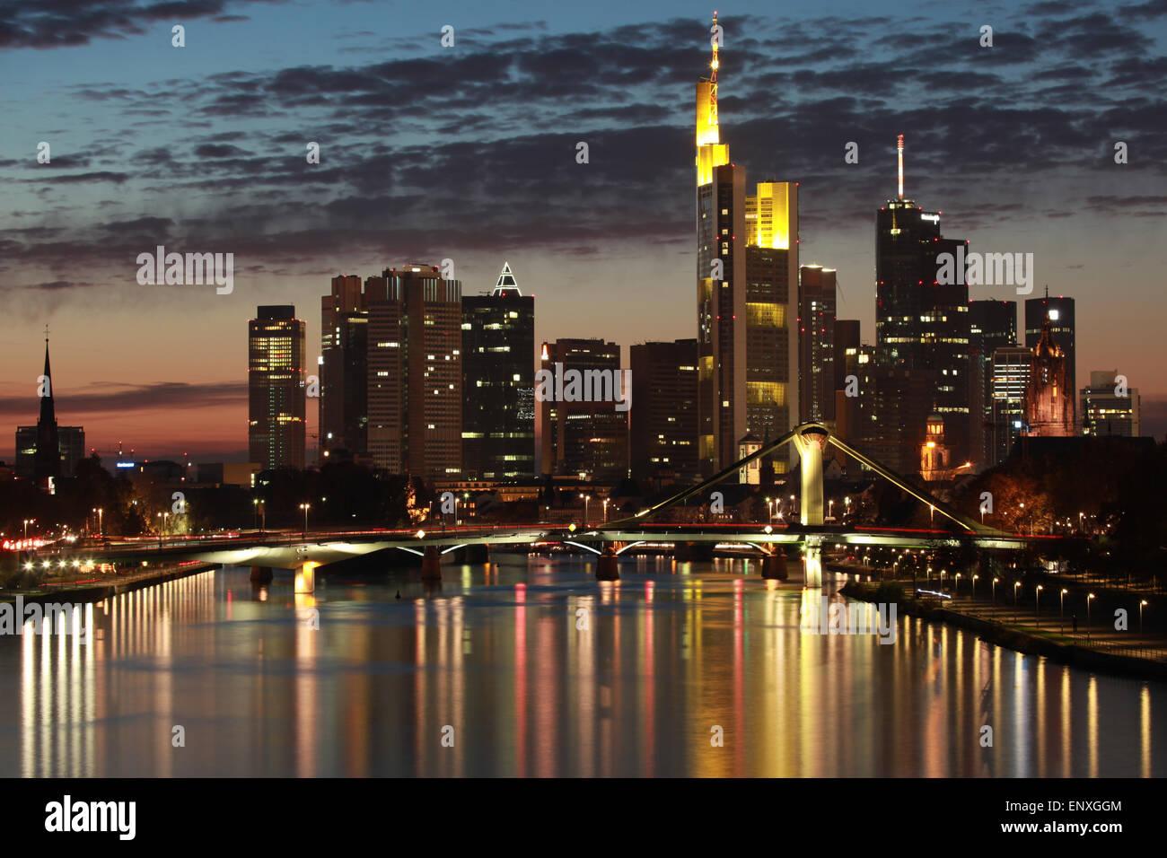 Frankfurt Skyline - Stock Image