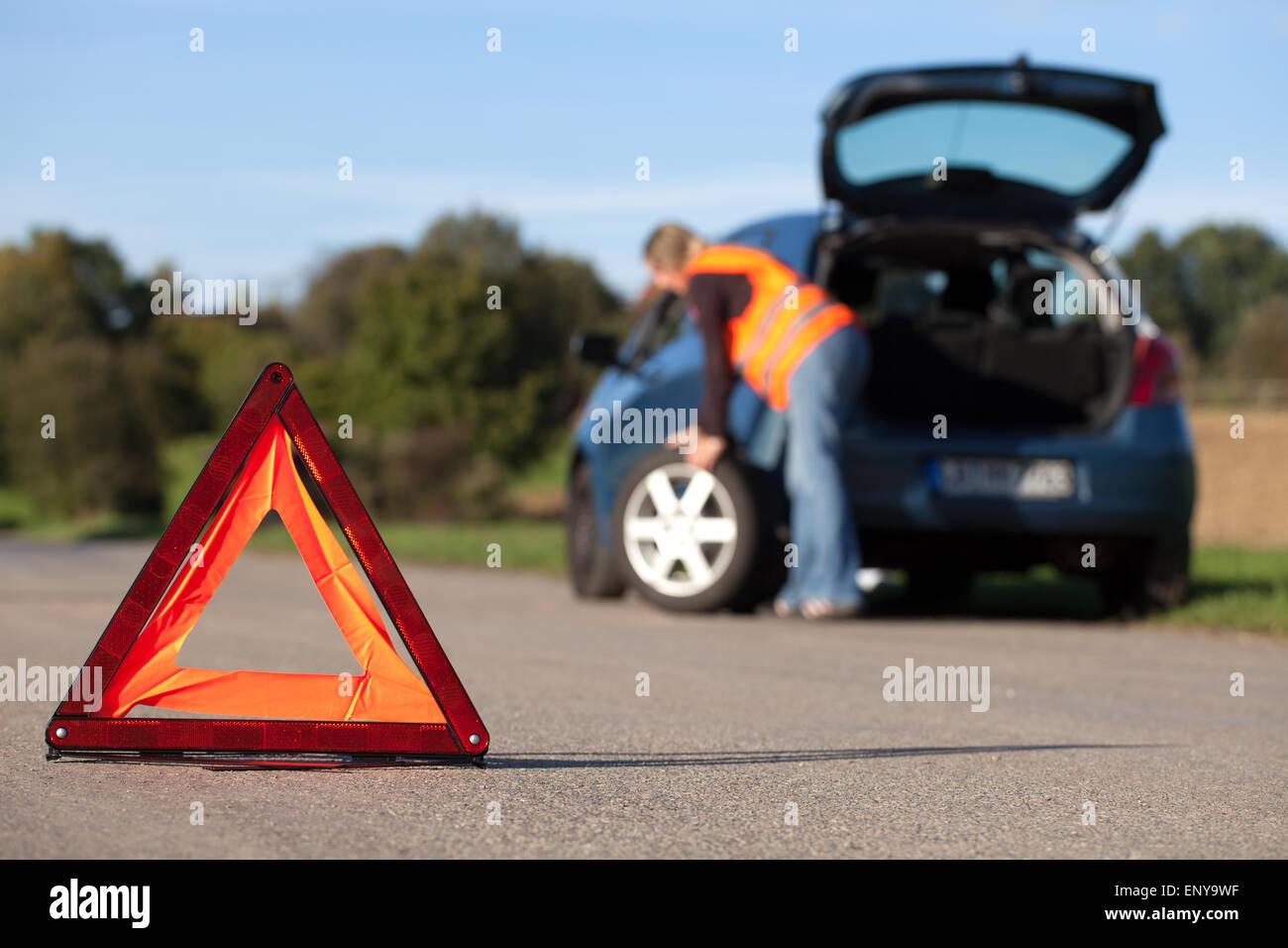 Reifenwechsel - Stock Image