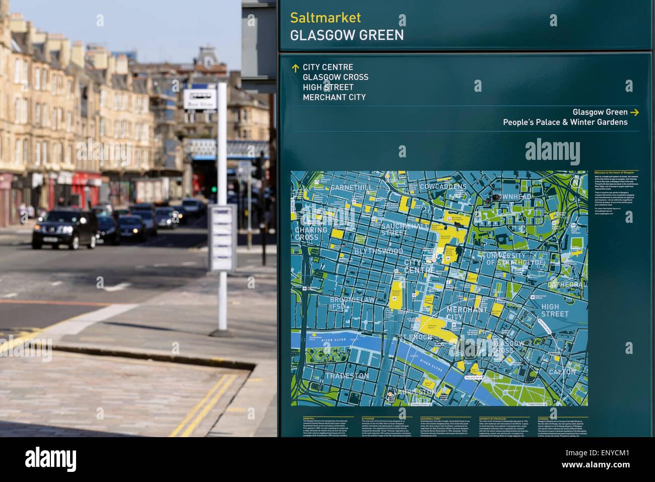Uk maps stock photos uk maps stock images alamy a street map in glasgow scotland uk stock image freerunsca Choice Image