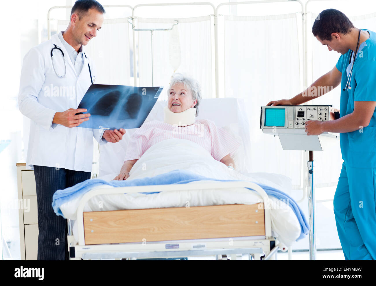 Old man take care nurse 9