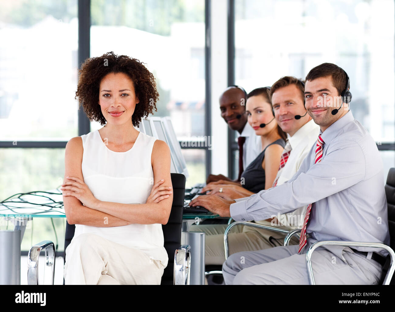 Young Female In Call Center Stock Photos & Young Female In