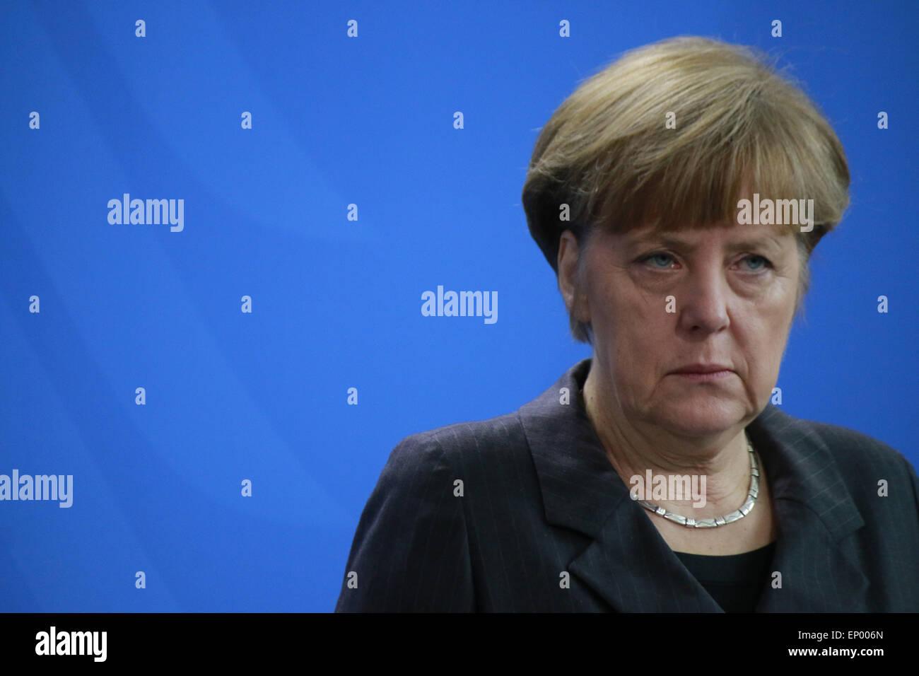 BKin Angela Merkel - Treffen der dt. Bundeskanzlerin mit dem irakischen Premierminister, Bundeskanzleramt, 6. Februar - Stock Image