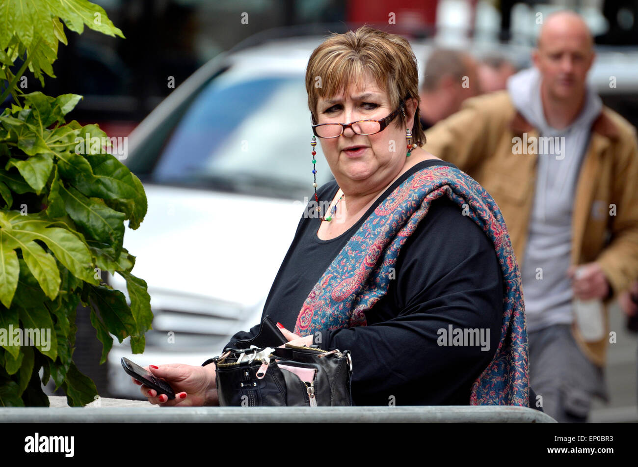Jenni Murray, DBE. BBC Radio journalist and broadcaster, presenter of Radio 4's Woman's Hour, outside BBC - Stock Image