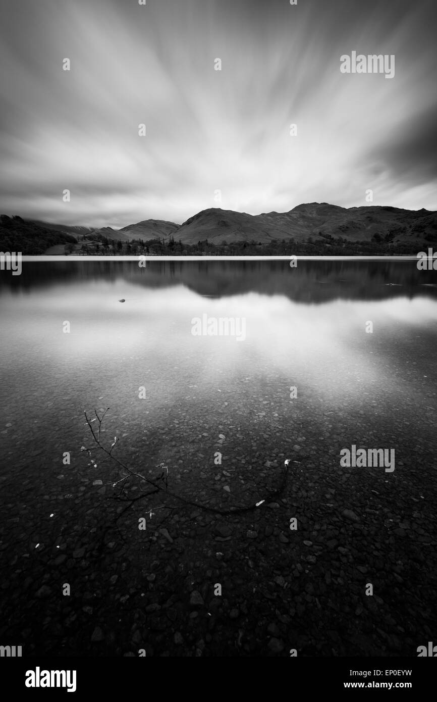 A twig in Ullswater, Lake District National Park - Stock Image