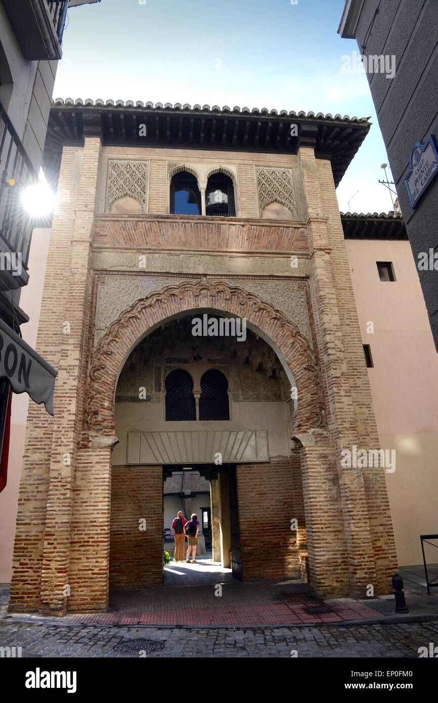 Granada Spain El Corral del Carb—n Moorish building from the 14th century, which was once  a storage and hotel for - Stock Image