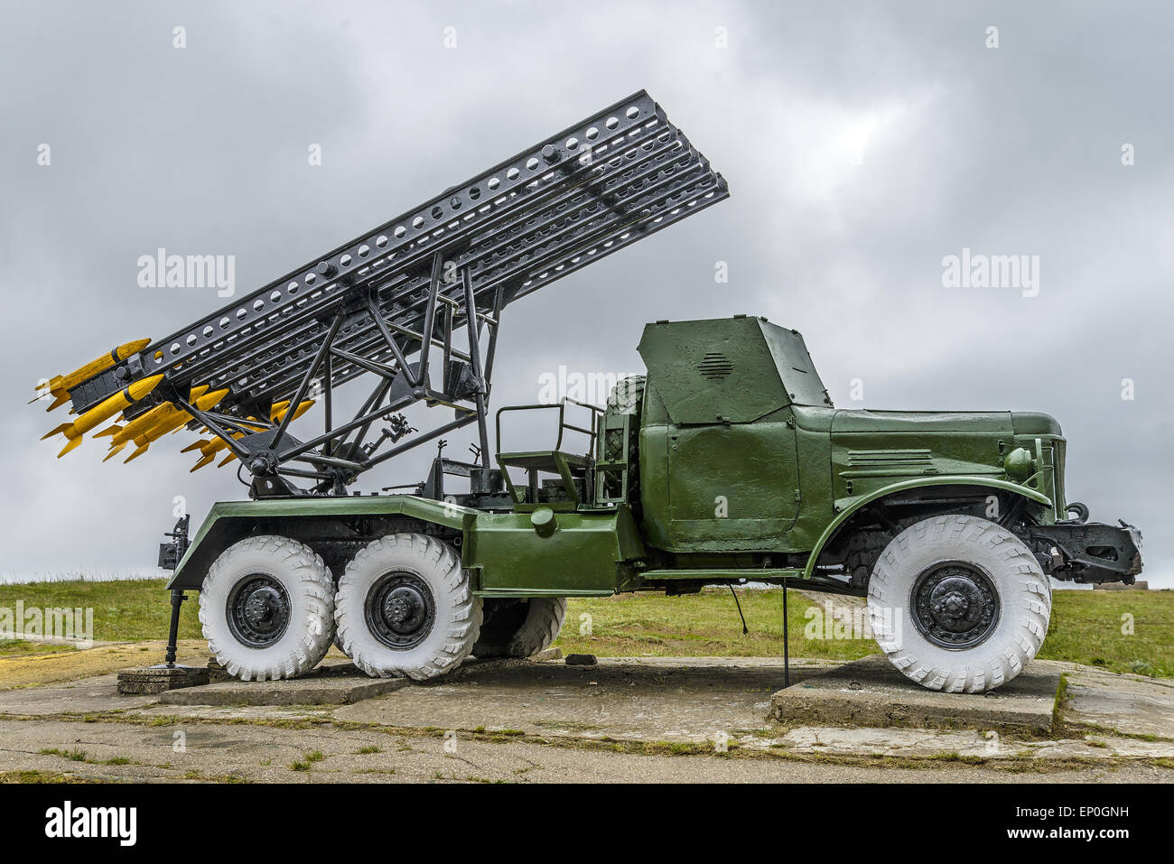 'Katyusha' (lorry-mounted multiple rocket launcher) - Stock Image
