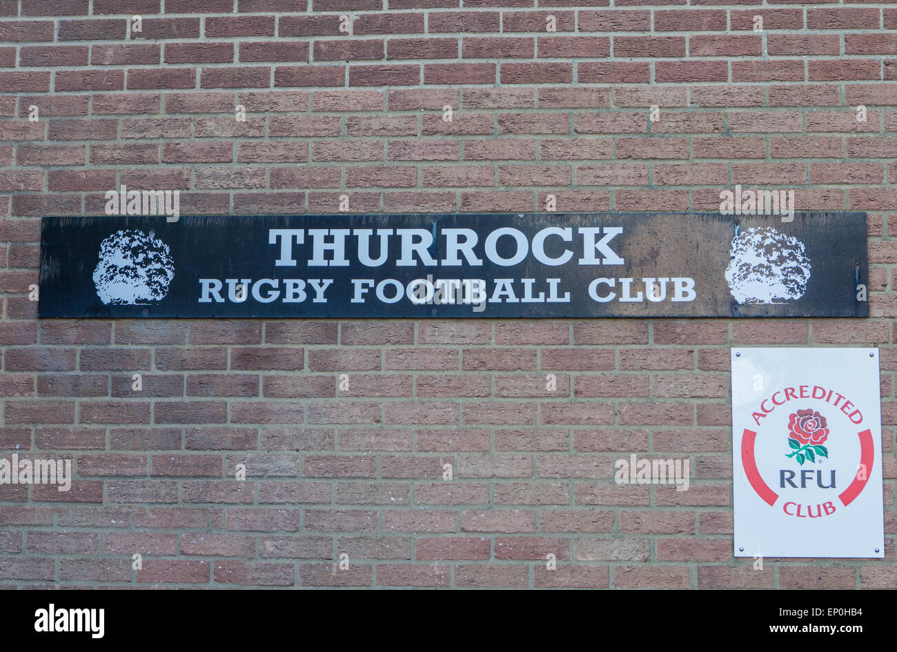 Thurrock Rugby Football Club Essex RM17 Sign England Britain UK Stock Photo