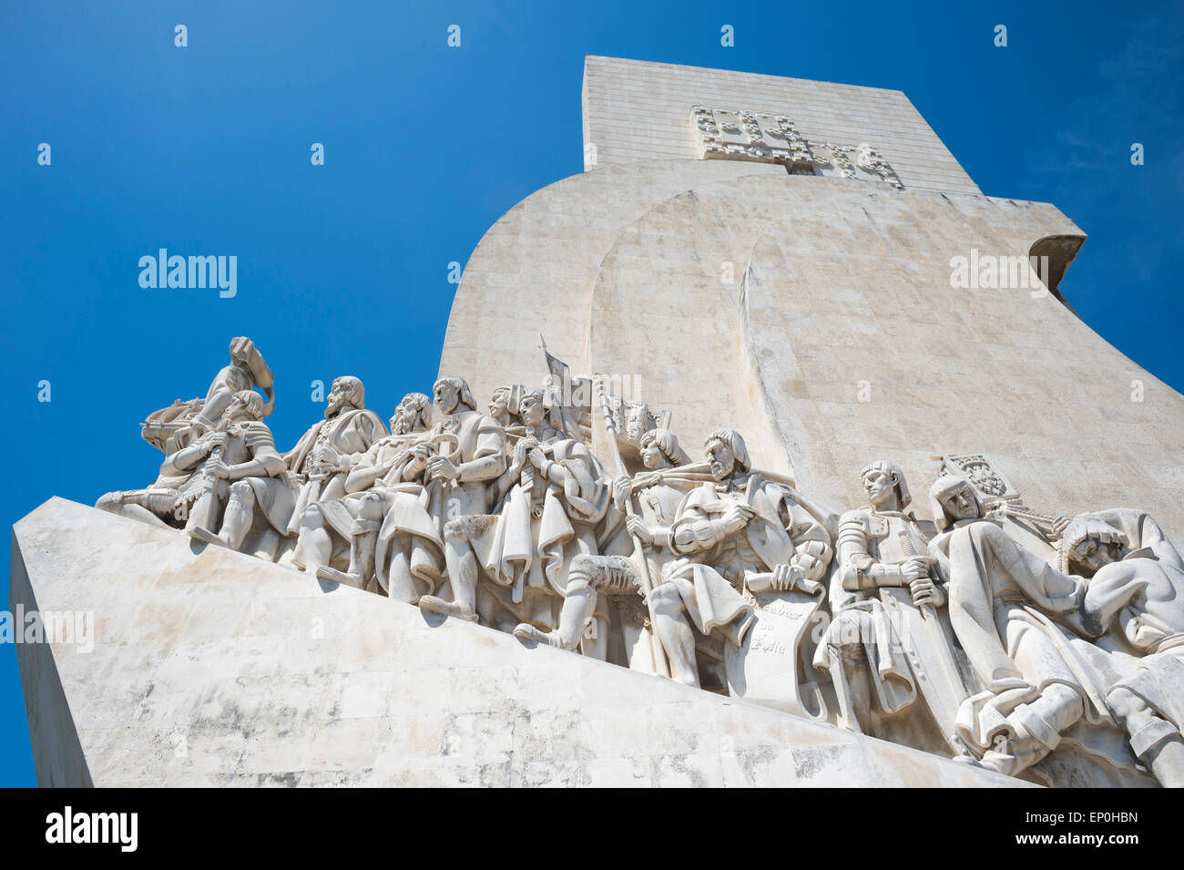 Padrao dos Descobrimentos, seafaring memorial, age of discovery, Belem on the Tagus River, Lisbon, Portugal - Stock Image