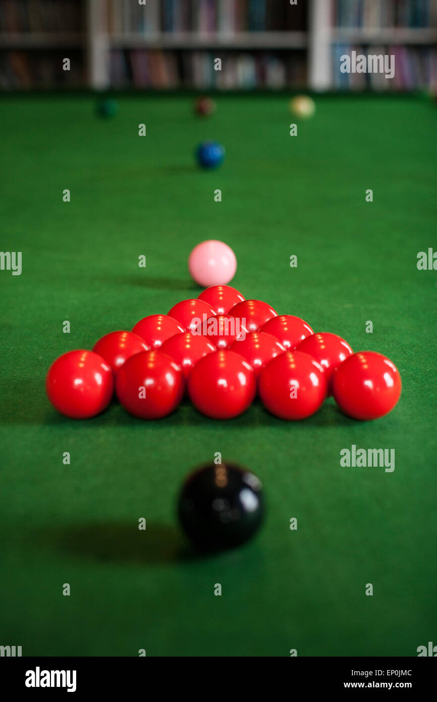 Snooker table set up for a game & Snooker table set up for a game Stock Photo: 82378588 - Alamy