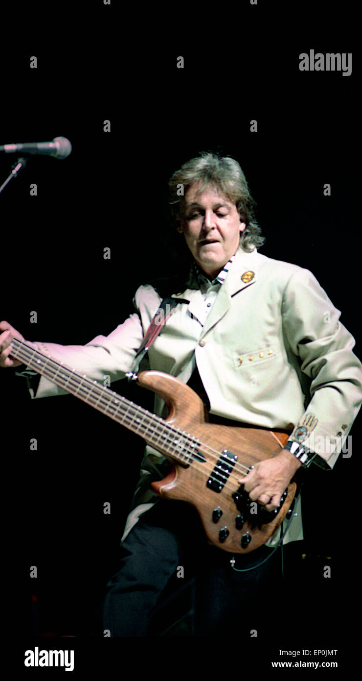 Paul McCartney Performs At RFK Stadium In Washington DC For The July 4th 1990 Independence Day Concert