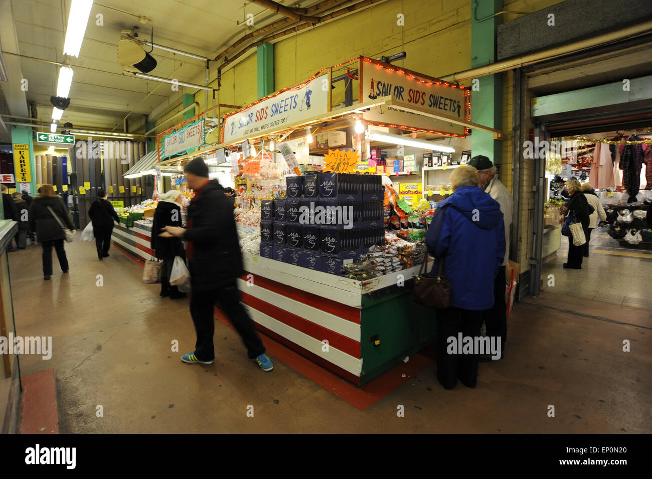 Barnsley Indoor Market, South Yorkshire. Picture: Scott Bairstow/Alamy - Stock Image