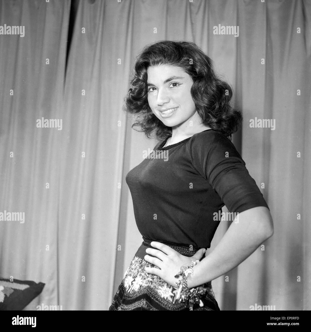 Brasilianische Sängerin und Schauspielerin Vanja Orico, in Hamburg 1956. Brazilian singer and actress Vanja - Stock Image