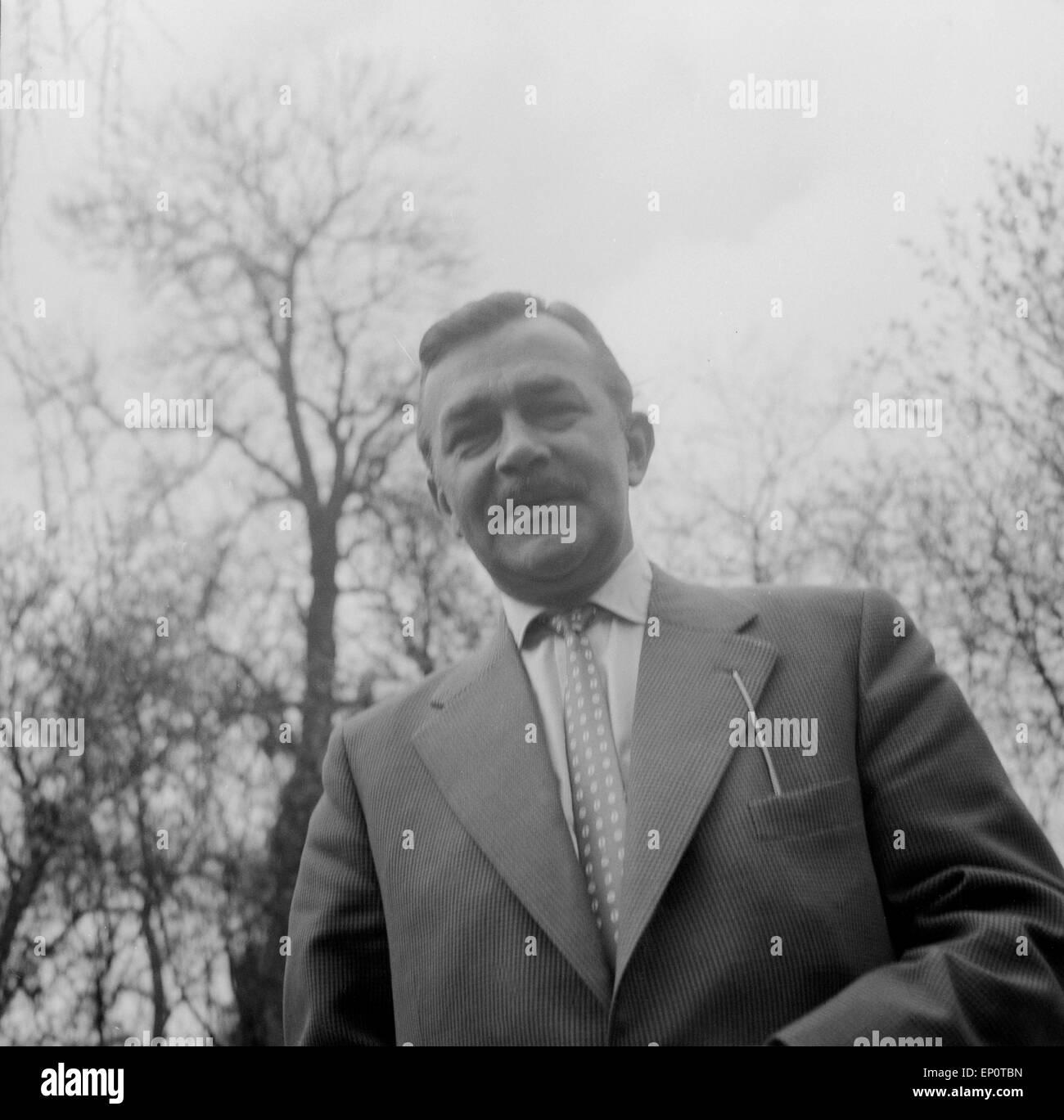 Deutscher Schauspieler Heinz Piper, Hamburg 1956. German actor Heinz Piper, Hamburg 1956. - Stock Image