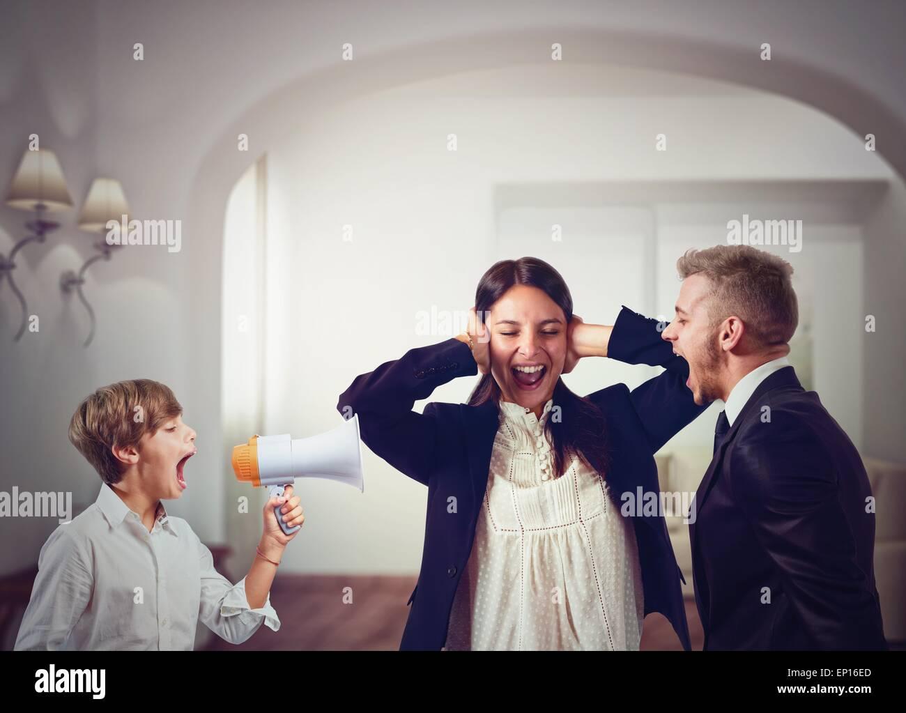 Family quarrels - Stock Image