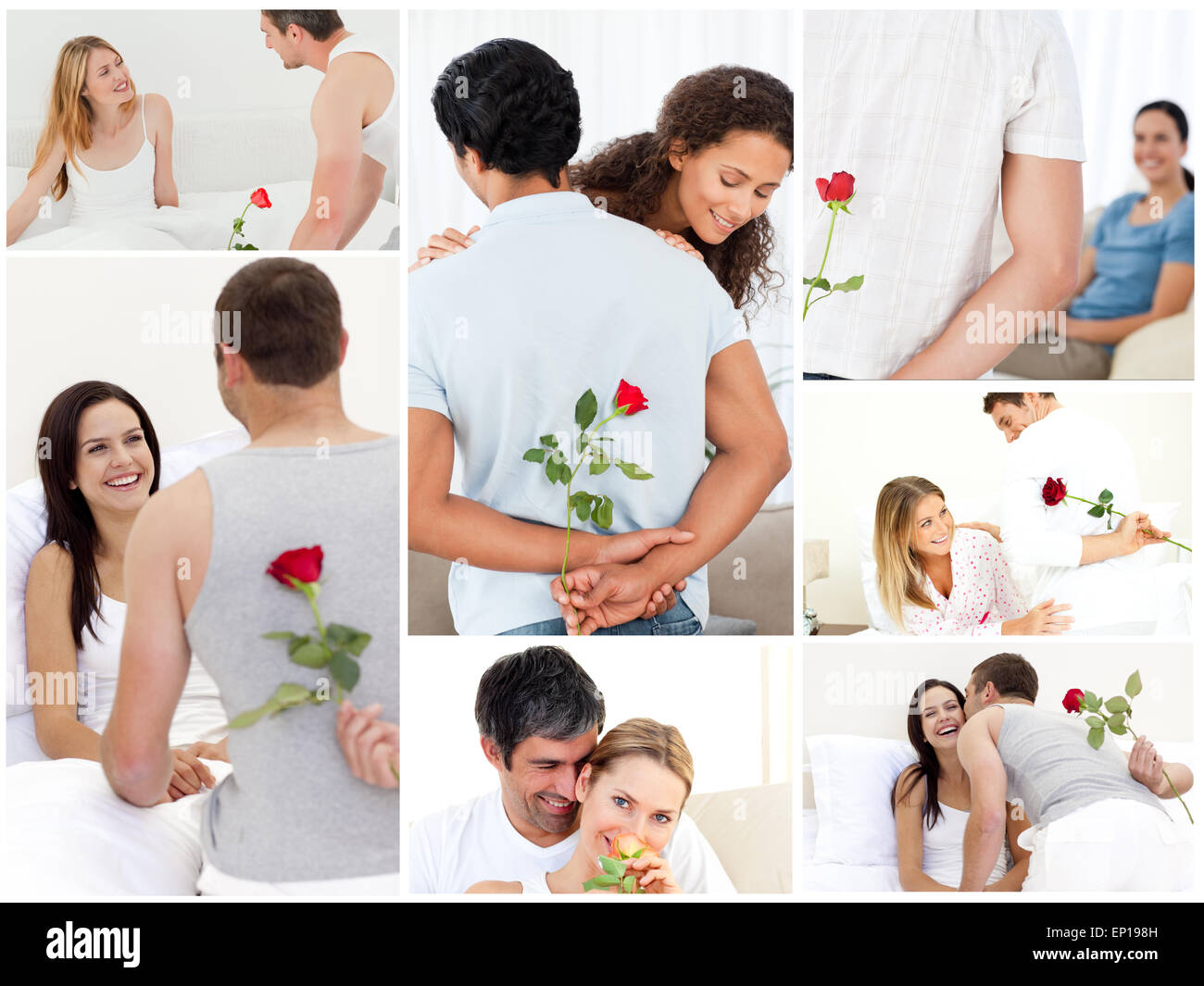 Collage Of Lovely Couples Enjoying The Moment Stock Photo 82393153