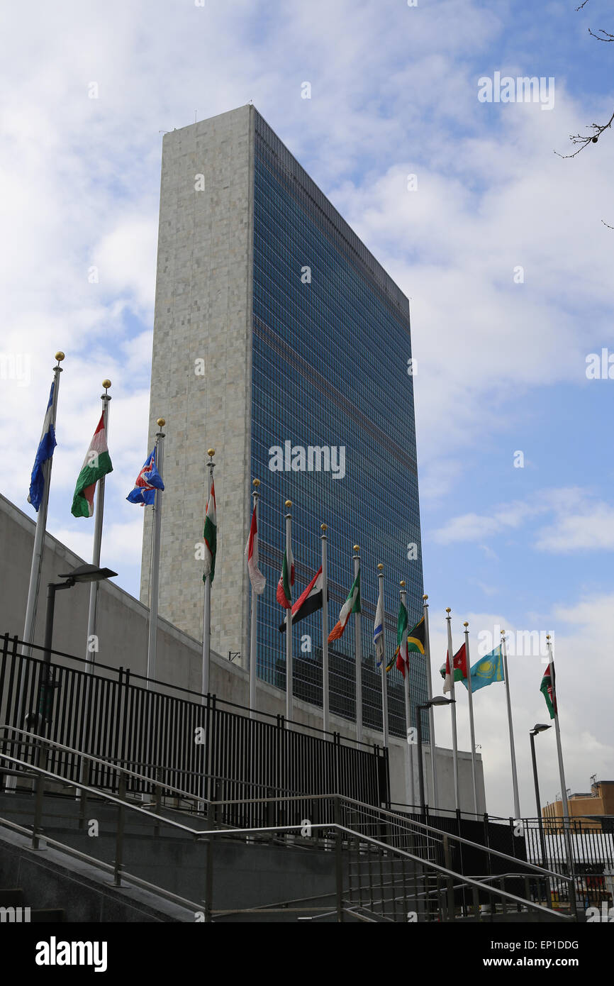 Headquarters of United Nations. Secretariat building. New York city. United States. - Stock Image