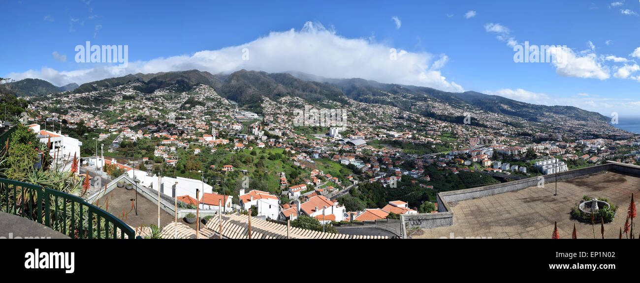Funchal from above panorama number 3518 - Stock Image