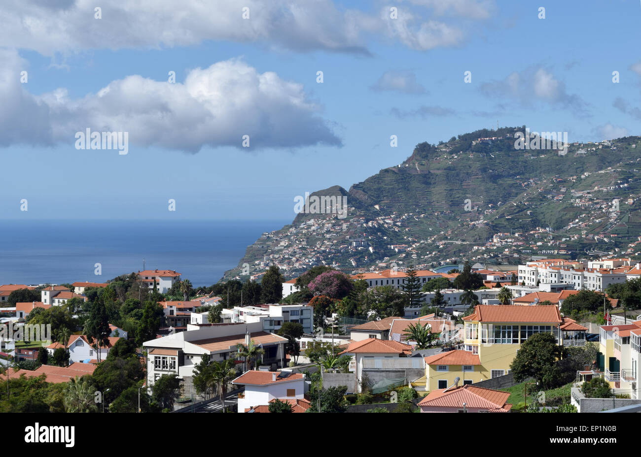 Funchal from above number 3519 - Stock Image