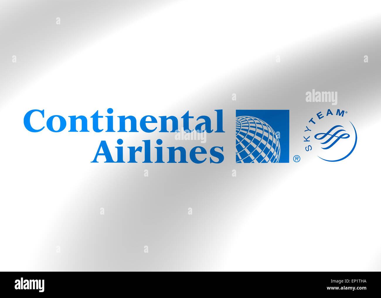Continental Airlines logo icon flag emblem symbol - Stock Image