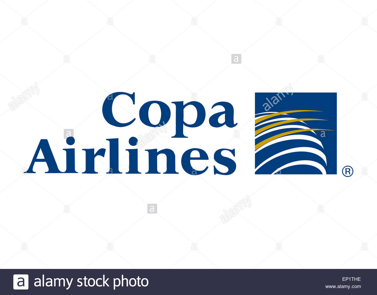 Copa Airlines logo icon flag symbol emblem Stock Photo