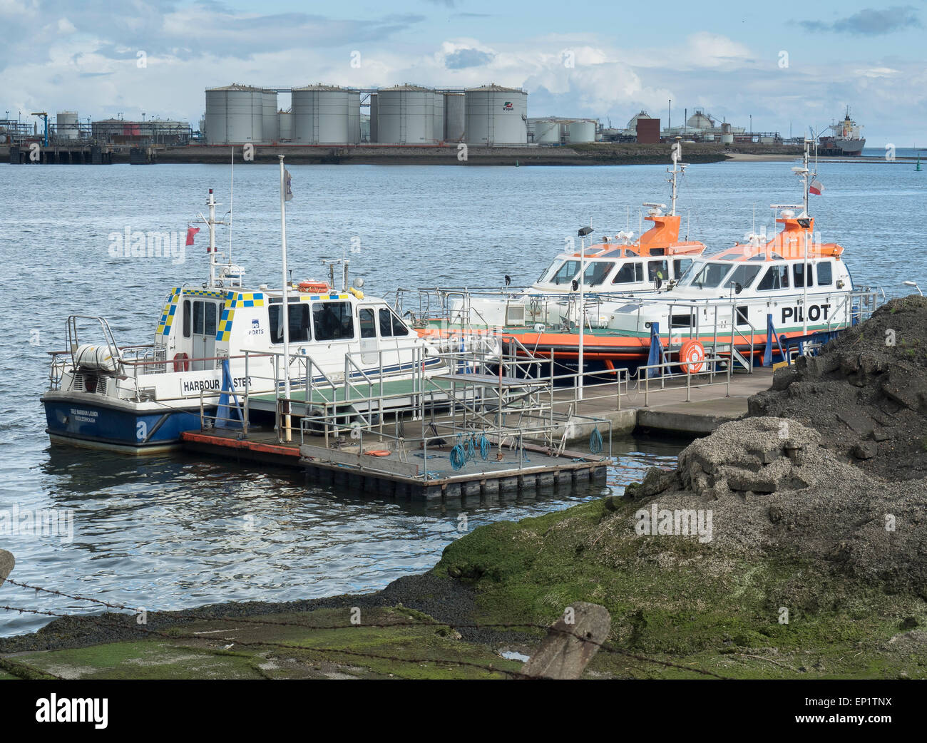 Harbour Masters Launch and Tees Pilot Launches, Teesport, River Tees - Stock Image