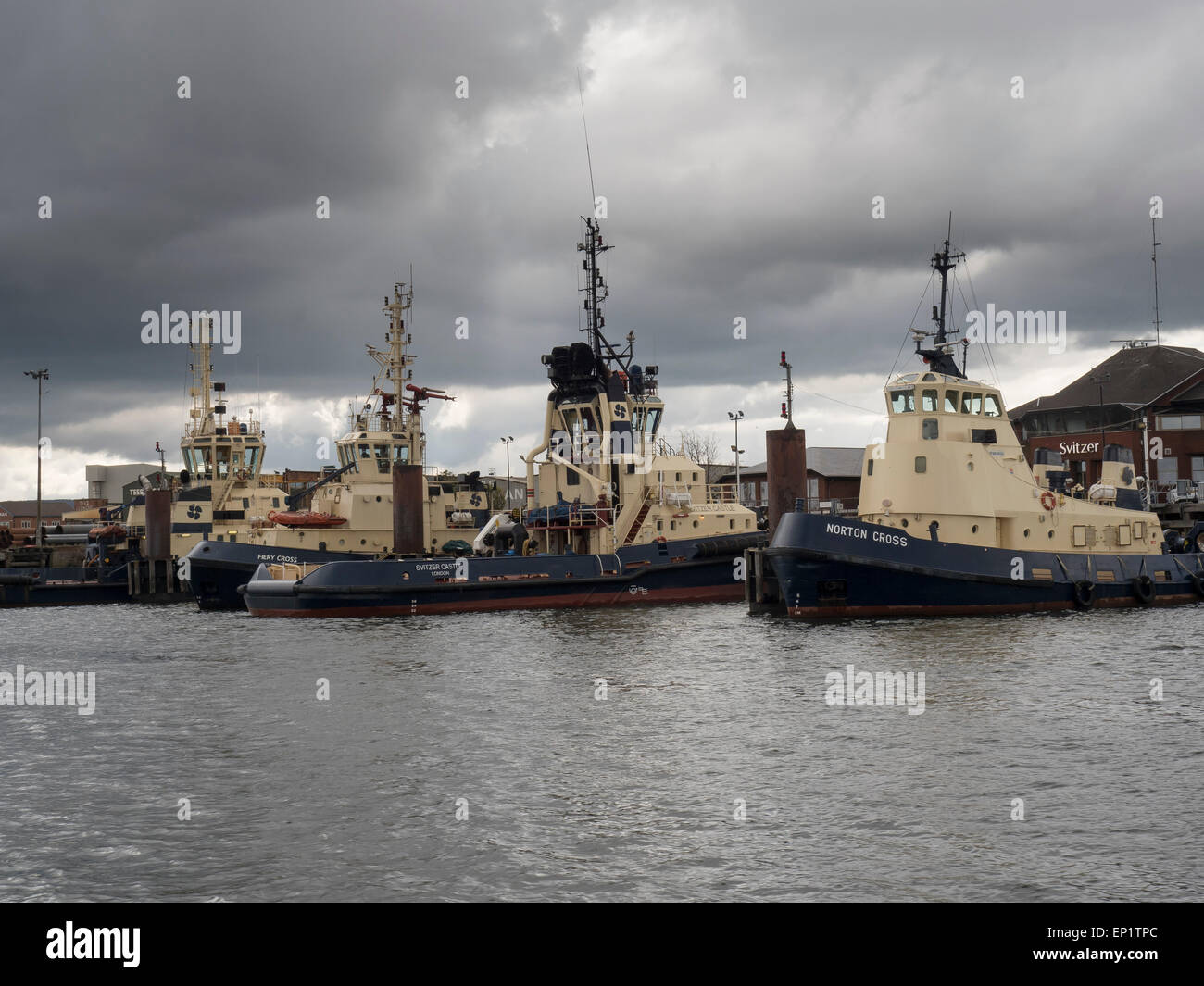 Svitzer River Tees Tugs, Middlesbrough - Stock Image