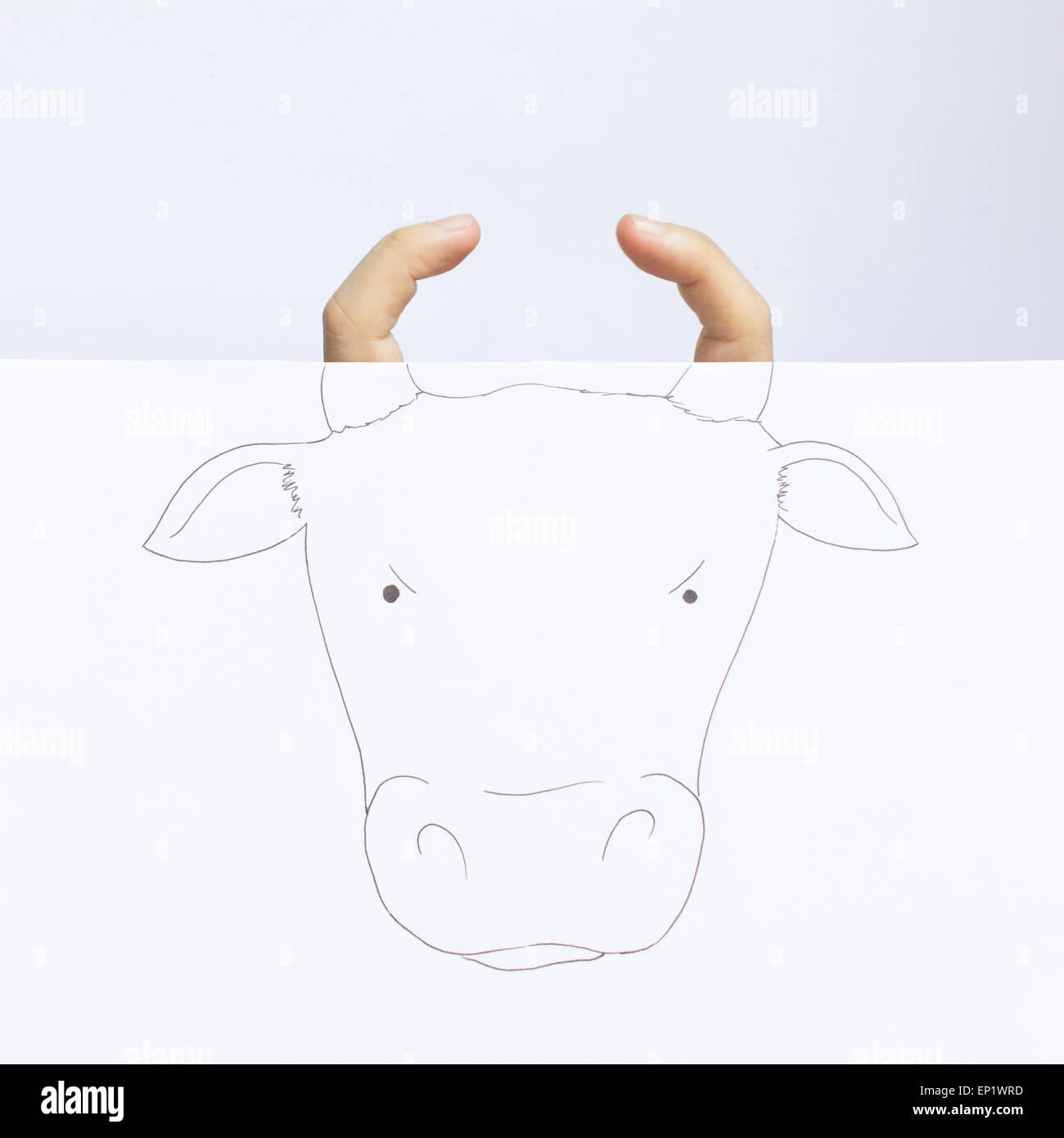 Conceptual bull - Stock Image