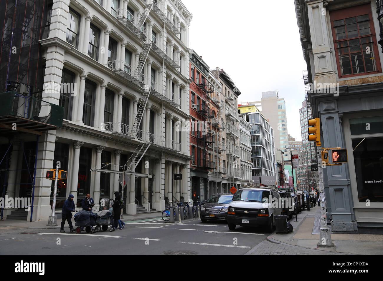United States. New York City. Lower Manhattan. Soho. - Stock Image