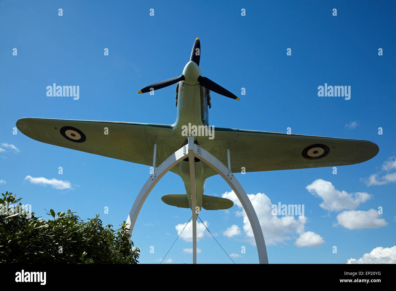 Hawker Hurricane fighter replica at MOTAT (Museum of Transport and Technology),  Auckland,  North Island, New Zealand - Stock Image