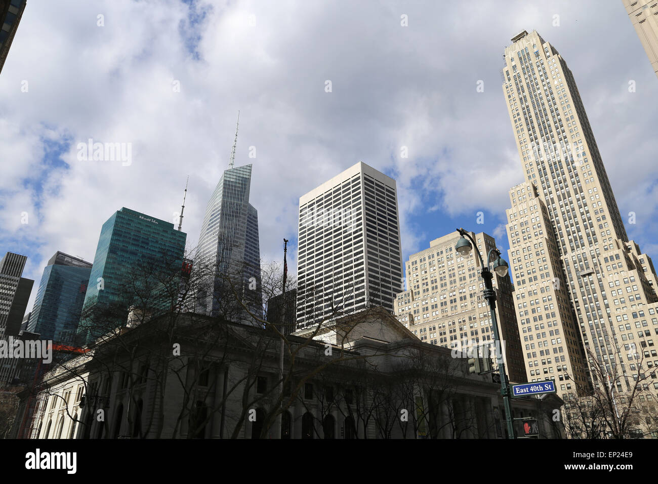 United States. New York City. Lower Manhattan. Skyscraper. - Stock Image