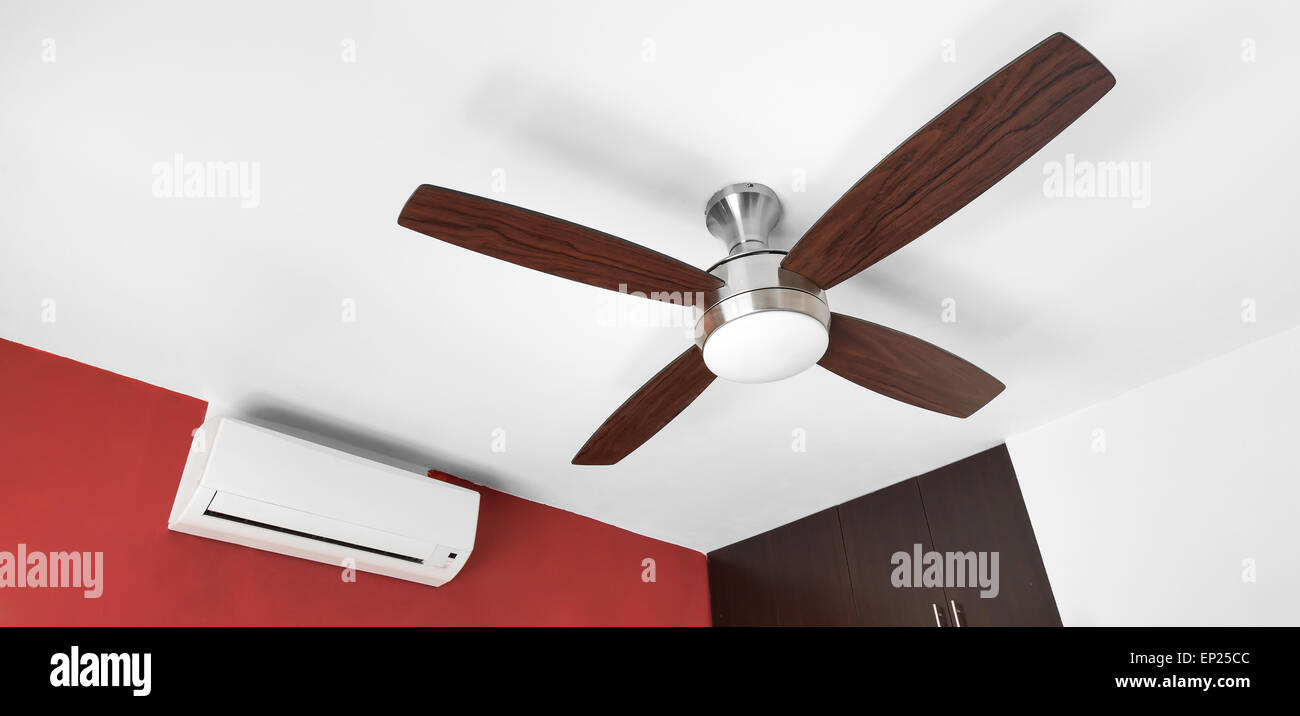 Electric ceiling fan and split system air conditioner at the room electric ceiling fan and split system air conditioner at the room aloadofball Choice Image