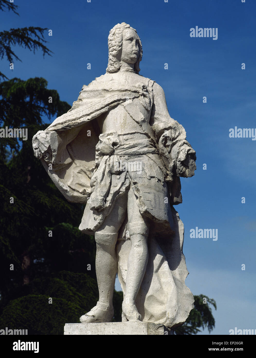 Ferdinand VI of Spain (1713-1759). The Learned. King of Spain. Bourbon dynasty. Statue of monarch. San Fernando - Stock Image