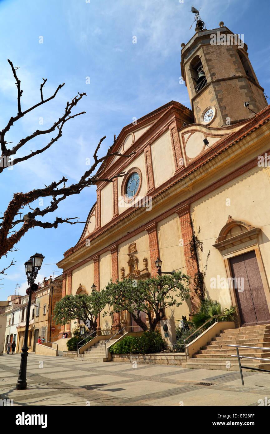 Church, Església de Sant Joan, Vilassar de Mar - Stock Image
