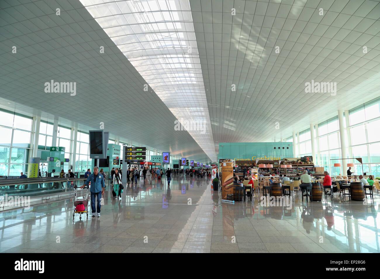 The new Terminal T1 at Barcelona El Prat Airport BCN - Stock Image