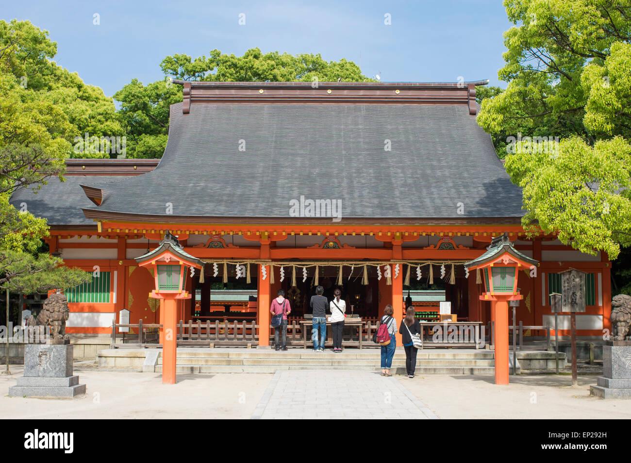 Sumiyoshi Shrine ( Shinto ) Fukuoka, Kyushu, Japan - Stock Image