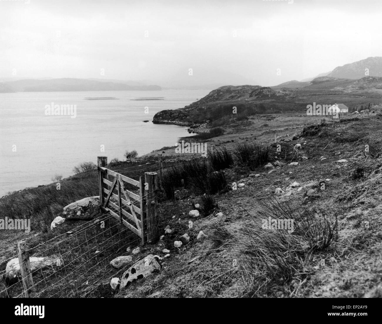 A view over Loch Ewe, which was a potential site in 1992 for a Super Quarry. 26th January 1992. - Stock Image